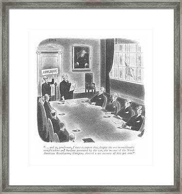 New Yorker January 22nd, 1944 Framed Print by Richard Taylor