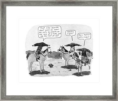 New Yorker January 22nd, 1990 Framed Print