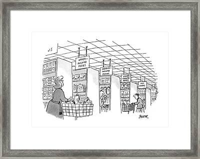 New Yorker January 22nd, 1996 Framed Print by Jack Ziegler