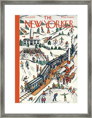 New Yorker January 23rd, 1937 Framed Print by Ilonka Karasz