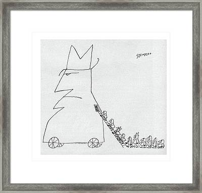 New Yorker January 23rd, 1960 Framed Print by Saul Steinberg