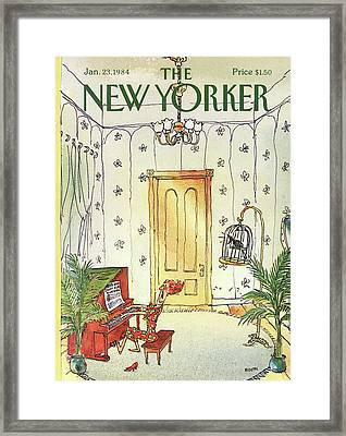 New Yorker January 23rd, 1984 Framed Print by George Booth