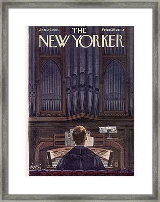 New Yorker January 24th, 1953 Framed Print by Constantin Alajalov