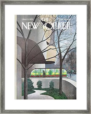 New Yorker January 24th, 1970 Framed Print by Charles E. Martin