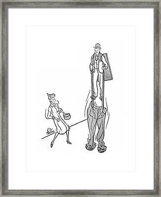 New Yorker January 25th, 1941 Framed Print by George Price