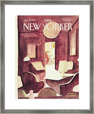 New Yorker January 25th, 1982 Framed Print by Jean-Jacques Sempe