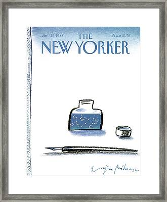 New Yorker January 25th, 1988 Framed Print