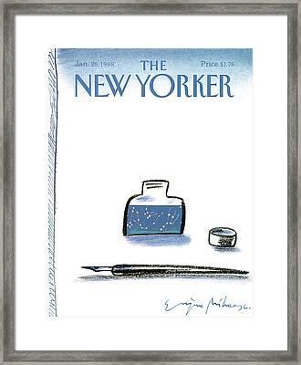New Yorker January 25th, 1988 Framed Print by Eugene Mihaesco