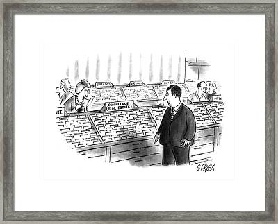 New Yorker January 25th, 1993 Framed Print by Sam Gross