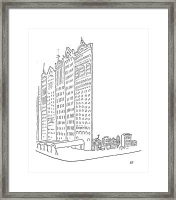 New Yorker January 26th, 1952 Framed Print by Saul Steinberg