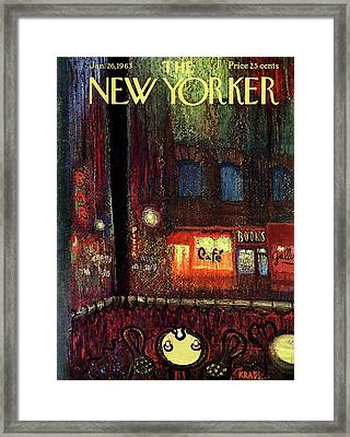 New Yorker January 26th, 1963 Framed Print by Robert Kraus