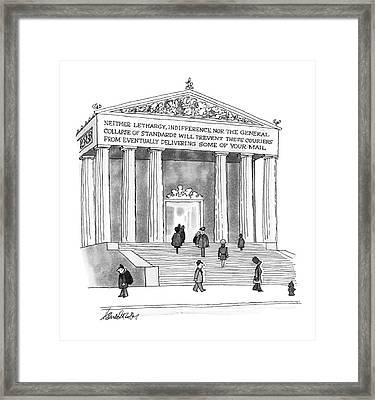 New Yorker January 26th, 1976 Framed Print by J.B. Handelsman