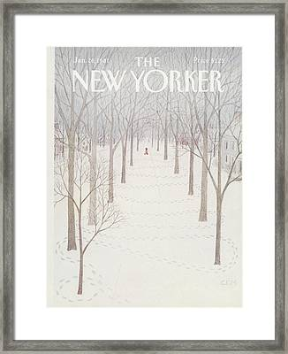 New Yorker January 26th, 1981 Framed Print by Charles E. Martin