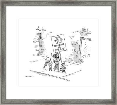 New Yorker January 26th, 1998 Framed Print