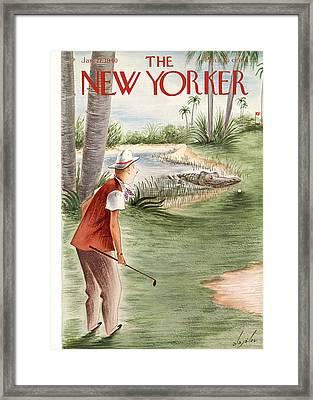 New Yorker January 27th, 1940 Framed Print by Constantin Alajalov