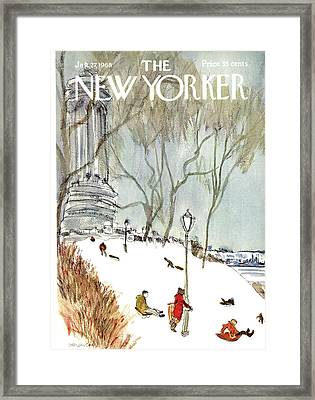 New Yorker January 27th, 1968 Framed Print by James Stevenson