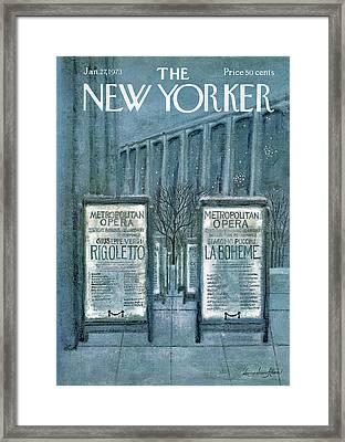 New Yorker January 27th, 1973 Framed Print by Laura Jean Allen