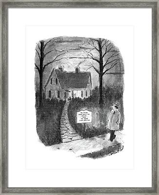 New Yorker January 27th, 1986 Framed Print by Stan Hunt