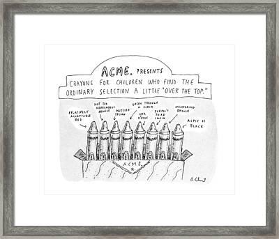 New Yorker January 27th, 1992 Framed Print