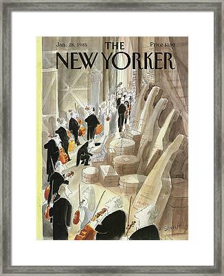 New Yorker January 28th, 1985 Framed Print by Jean-Jacques Sempe