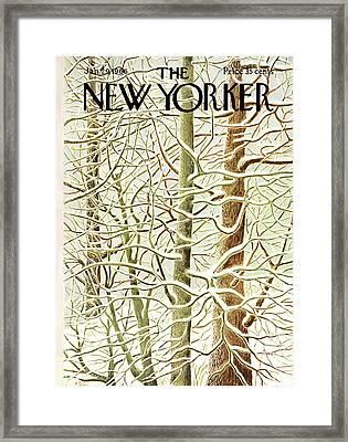 New Yorker January 29th, 1966 Framed Print by Ilonka Karasz