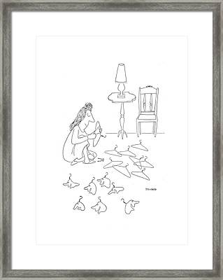 New Yorker January 2nd, 1943 Framed Print by Saul Steinberg