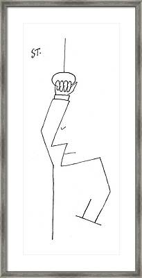 New Yorker January 30th, 1954 Framed Print by Saul Steinberg