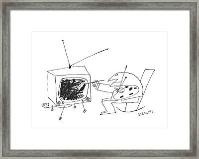 New Yorker January 30th, 1960 Framed Print by Saul Steinberg