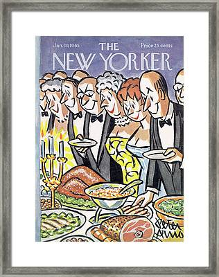 New Yorker January 30th, 1965 Framed Print by Peter Arno