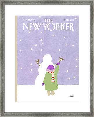 New Yorker January 30th, 1984 Framed Print by Heidi Goennel
