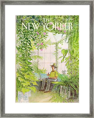 New Yorker January 31st, 1983 Framed Print by Charles Saxon