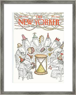 New Yorker January 4th, 1982 Framed Print