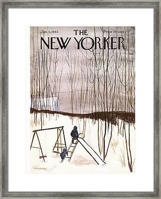New Yorker January 5th, 1963 Framed Print by James Stevenson