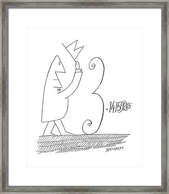 New Yorker January 5th, 1963 Framed Print by Saul Steinberg