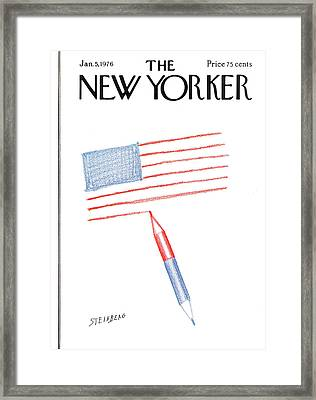 New Yorker January 5th, 1976 Framed Print