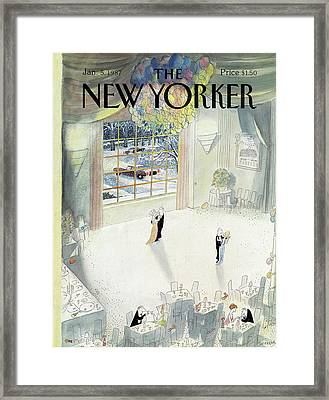 New Yorker January 5th, 1987 Framed Print by Jean-Jacques Sempe