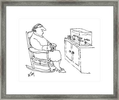 New Yorker January 5th, 1987 Framed Print by William Steig