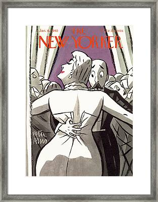 New Yorker January 6th, 1940 Framed Print by Peter Arno