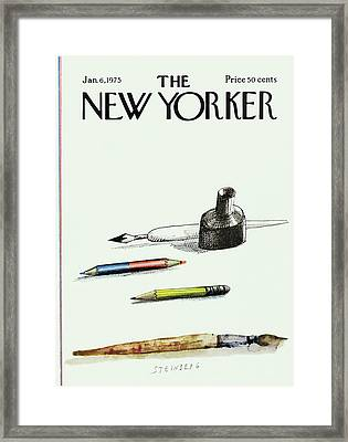 New Yorker January 6th, 1975 Framed Print
