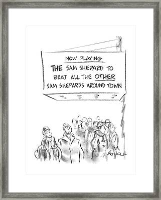 New Yorker January 6th, 1986 Framed Print by Ed Fisher