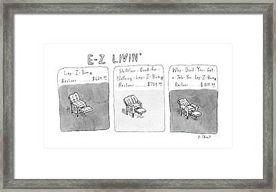 New Yorker January 6th, 1986 Framed Print by Roz Chast