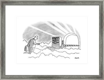 New Yorker January 7th, 1991 Framed Print by Jack Ziegler