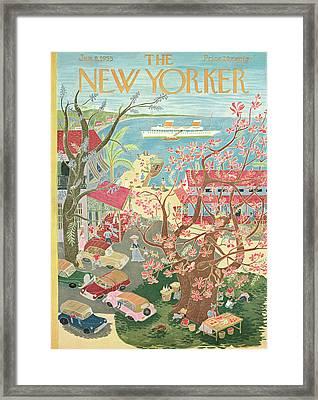 New Yorker January 8th, 1955 Framed Print by Ilonka Karasz