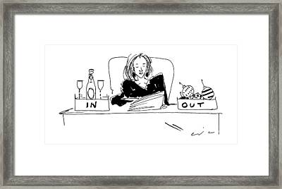 New Yorker January 8th, 1996 Framed Print by Richard Cline