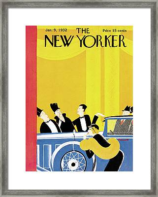 New Yorker January 9th, 1932 Framed Print by Theodore G. Haupt