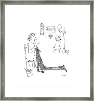 New Yorker January 9th, 1943 Framed Print by Saul Steinberg