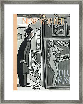 New Yorker January 9th, 1954 Framed Print by Peter Arno