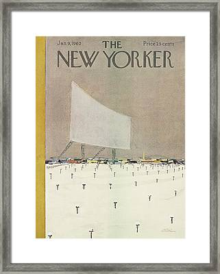 New Yorker January 9th, 1960 Framed Print by  Alain