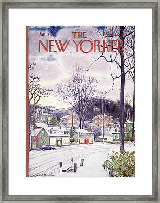 New Yorker January 9th, 1965 Framed Print by Albert Hubbell