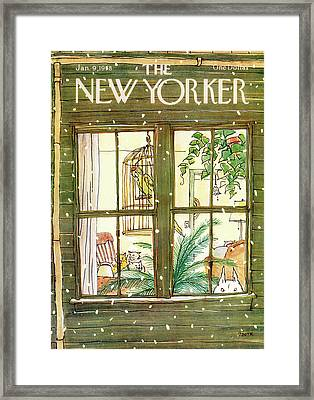 New Yorker January 9th, 1978 Framed Print by George Booth